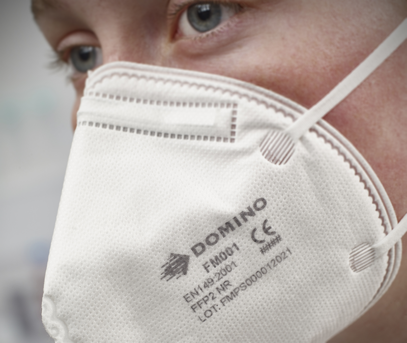 Domino's Food Packaging Ink Supports Coding On Respirator Face Masks